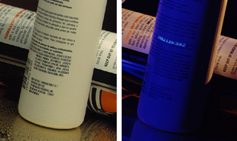 Invisible Fluorescing, UV Readable Inks