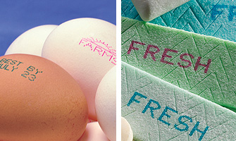 Inks for Printing on Eggs and Cheese