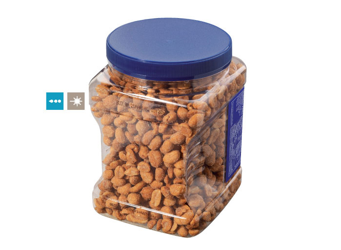 Printing on Jars, Tins and Cans of Salty Snacks, pouch printing, pouch printing machine, batch coding machine for pouch