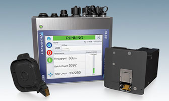 Videojet 8610 Thermal Inkjet Printer, barcode label printer, barcode printing, inkjet batch coding machine